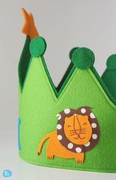 felt crown customized // by melimelum