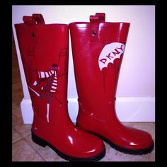DKNY Boots - Red rain boots