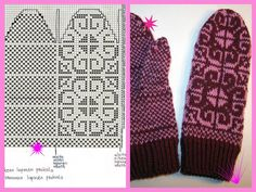 Nimetön Knitted Mittens Pattern, Knit Mittens, Mitten Gloves, Knitting Charts, Hand Knitting, No Name, Nordic Style, Wall Photos, How To Make