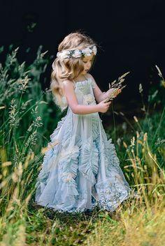 Blue Ridge Meadow by bigappleorganizer Flower Girl Hairstyles bigappleorganizer Blue meadow Ridge Boho Flower Girl, Flower Girls, Blue Flower Girl Dresses, Beautiful Dresses, Nice Dresses, Flower Girl Hairstyles, Communion Dresses, Vintage Style Dresses, Little Girl Dresses