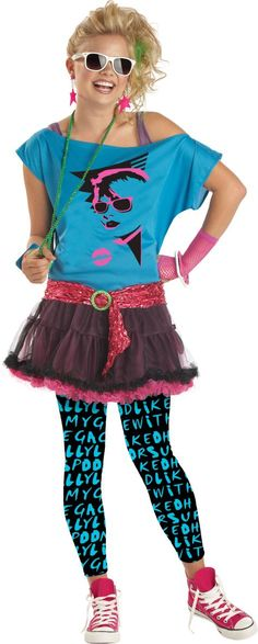 Teen Girls 80s Valley Girl Costume - Party City