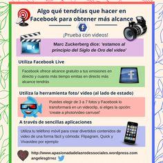 Vídeos para tener más alcance en Facebook #infografia