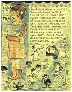 Lynda Barry on copying comics from What It is
