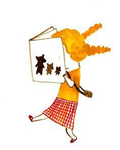patricia metola reading a book illustration Illustration Inspiration, Children's Book Illustration, Reading Art, Girl Reading Book, Art Magique, Clipart, Cute Art, Illustrations Posters, Illustrators