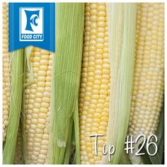 Never shuck corn again: Cut an inch off the wide end and the corn slips right out- no silks!