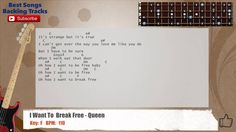 I Want To Break Free - Queen Bass Backing Track with chords and lyrics