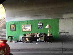 Homeless man set up