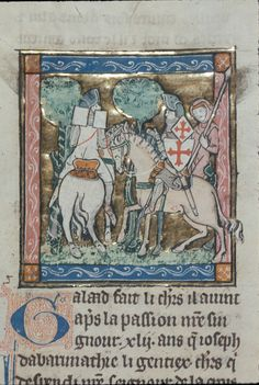 Royal 14 E III TitleEstoire del Saint Graal, La Queste del Saint Graal, Morte Artu OriginFrance, N. (Saint-Omer or Tournai?) Date1st quarter of the 14th century LanguageFrench Folio 94v