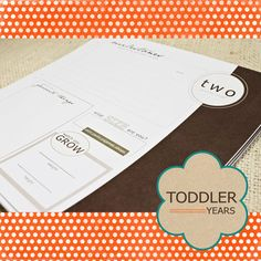 Toddler Keepsake Pages  from etsy - love this idea.