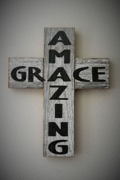 Hey, I found this really awesome Etsy listing at https://www.etsy.com/listing/198797261/amazing-grace-rustic-barn-board-cross #CountryDecor
