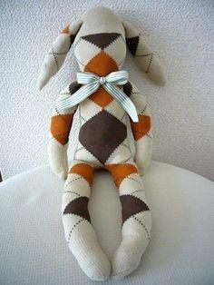 ハンドメイドのある暮らし *ほっこりやの日々*:靴下人形