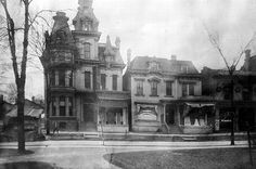 North side of Adams Ave near Park Street.  I think this house may have been on the north side, facing Grand Circus Park.  Detroit.