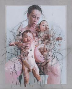 Jenny Saville, The Mothers, Oil and charcoal on canvas, 106 x 86 in. Collection of Lisa and Steven Tananbaum. © Jenny Saville Courtesy of the artist and Gagosian Gallery Figure Painting, Figure Drawing, Painting & Drawing, Art And Illustration, Jenny Saville Paintings, Gagosian Gallery, Figurative Kunst, A Level Art, Art Moderne