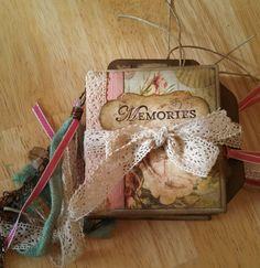 Memories Mini Paperbag Journal. This scrapbooking by ReneesOdyssey