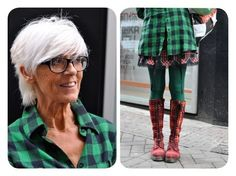This pic is from ADVANCED STYLE, one of my favorite style blogs. It exclusively features older women (and some men) with amazing street style. This look is so good, I'm going to totes bite it.