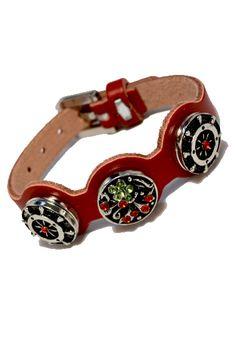 Armband mit 3 Snap buttons für den individuellen Schmuck Button, Bracelet, Schmuck, Buttons, Knot