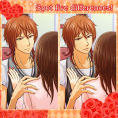 """【Spot the Difference!】 There are five differences between two pictures.  If you spotted them all, please tell us """"I spotted all!"""" in the comment, but please DON'T write """"WHERE"""" you found the spot. We look forward how fast and how many of you can spot the difference! you can share this pic to ask your friends too!  #koyonplete #otomegame #spotdifference"""