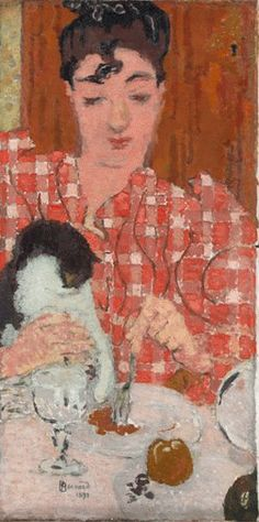 pierre bonnard, the checkered blouse (portrait of madame claude terrasse, the artist& sister, and her cat), 1892 (x)version used by new crafts llc Pierre Bonnard, Edouard Vuillard, Paul Gauguin, Impressionism Art, Wassily Kandinsky, Henri Matisse, French Artists, Oeuvre D'art, Japanese Art