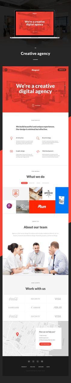 Magnet. Business Launch Kit by Spline on Creative Market