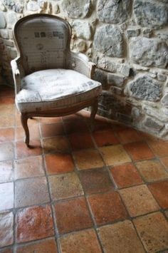 Brick Flooring, Living Room Flooring, Concrete Floors, Kitchen Flooring, Floor Ceiling, Tile Floor, Terracotta Floor, Interior Decorating, Interior Design
