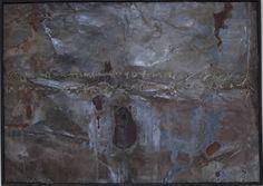 """Damiano Quaranta """"CALLIGRAFIA ceca""""           cm 70 X 100  tecnica mista   metallo ossidato  e cera"""