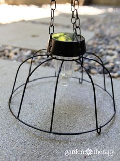 DIY Solar Light Chandelier (5)