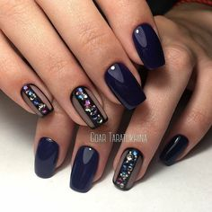 """If you're unfamiliar with nail trends and you hear the words """"coffin nails,"""" what comes to mind? It's not nails with coffins drawn on them. It's long nails with a square tip, and the look has. Winter Nail Art, Winter Nails, Gorgeous Nails, Pretty Nails, Beautiful Gorgeous, Nail Polish, Best Nail Art Designs, Super Nails, Stylish Nails"""