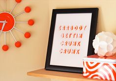 DIY posters with cut-out lettering   How About Orange