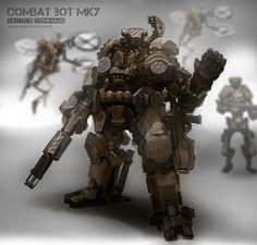 Combat Bots MK7- tactics command- Concept artist Alex Drummond