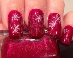 Christmas Xmas Nail Art Snowflakes Gloves Water Decals Transfers Wraps