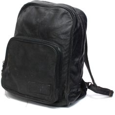 GRUNGE black leather 80s 90s BACKPACK goth mini small Roomy UNISEX ...