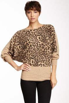 Animal Print Dolman Sweater on HauteLook
