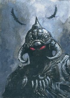 Nat Jones - Death Dealer Frank Frazetta, Fantasy Dragon, Fantasy Warrior, Dark Fantasy Art, Dark Art, Demon Art, Sword And Sorcery, True Art, Sculpture Clay