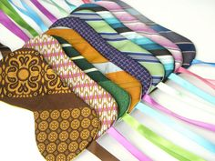Recycled Necktie Sleep Masks (for sale -image for idea)