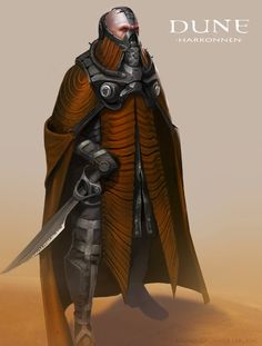 """Dune Concept Art - Harkonnen """"To attempt an understanding of Muad'Dib without understanding his mortal enemies, the Harkonnens, is to attempt seeing Truth without knowing Falsehood. It is the attempt to see the Light without knowing Darkness. It cannot be."""" - from Manual of Muad'Dib by the Princess Irulan"""