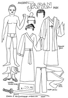 Ancient Japan Men, also men from Ancient Egypt, Vikings, Ancient Rome, China, Japan and India.