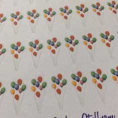 Balloon Bouquet Stickers for Passion Planner, Erin Condren, Filofax, Happy Planner, Bujo, Kikkik.... etc by LyRainzStickrzNStuff on Etsy