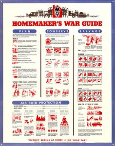 Chart with columns providing illustrated suggestions for supporting the war effort. Office of War Information. Vintage Advertisements, Vintage Ads, Vintage Posters, Retro Ads, Vintage Signs, Vintage Style, Us History, American History, Modern History