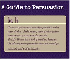 Guide to persuasion