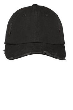 65dfdba7cfb60 Black Distressed Hat. Baseball Hats