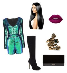 """Untitled #46"" by athziri-galindo on Polyvore featuring Balmain, Jimmy Choo, Lime Crime and Gucci"