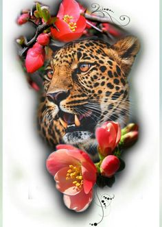 Big Cat Tattoo, Dark Art Tattoo, Tiger Tattoo, Cat Tattoo Designs, Tattoo Design Drawings, Tattoo Sketches, Half Sleeve Tattoos Drawings, Skull Sleeve Tattoos, Leopard Tattoos