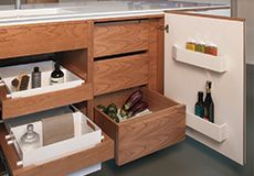 Islington Showroom Bespoke Kitchens, Corian, Cabinet Makers, Cladding, Bathroom Medicine Cabinet, Showroom, Herringbone, Trench, Furniture