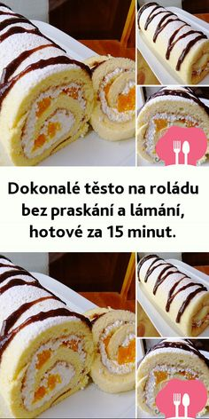 The perfect dough for biscuit rolls - does not break and is ready in 15 minutes.- Der perfekte Teig für Biskuitrollen – bricht nicht und ist in 15 Minuten fertig. Ingredients for the dough: 6 eggs 120 g sugar 90 … - Chewy Sugar Cookie Recipe, Chocolate Cake Recipe Easy, Chocolate Cookie Recipes, Easy Cookie Recipes, Chocolate Chip Cookies, Mini Desserts, Easy Desserts, Baked Cheesecake Recipe, Cheesecake Desserts