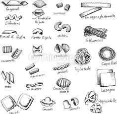 pasta illustration - Google Search