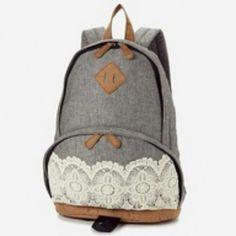 8648cc3fece6 Cute Lace Bag Lace Backpack