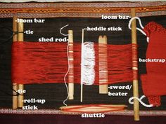 How to build and weave on a backstrap loom.  She shows how to build a loom out of household items.  I've so excited!