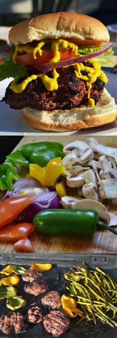 These Garden Fresh Grilled Burgers are loaded with vegetables for a healthy burger that is loaded with flavor! www.nutritionistreviews.com