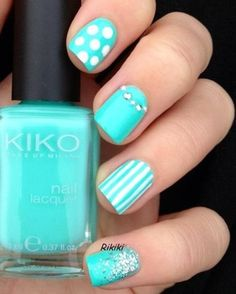 Pictures of Blue Nail Art Designs 2019 - Nails C Fabulous Nails, Gorgeous Nails, Pretty Nails, Do It Yourself Nails, How To Do Nails, Hair And Nails, My Nails, Nails Today, Nagellack Design