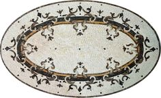 Sharp Oval Mosaic design for Wall or Floor Use